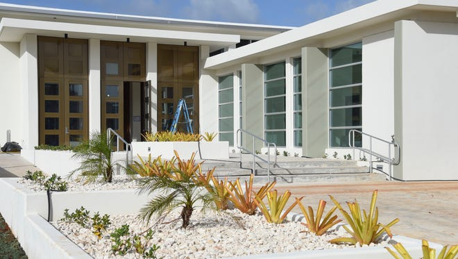 The New Guam Legislature building nears completion in Hagåtña on Dec. 17, 2016.