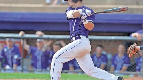Carter Grote hit one of Furman's five home runs Friday during the Paladins 11-4 win over Western Carolina.