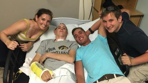 Ryan Jansa, second from left, is seen with family in this picture from June 19.