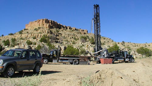 Workers are parked near the St. Anthony mine.