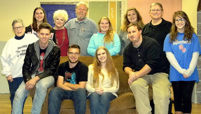 Skylar Jensen, back row from left, Deb Smith, Bill Simpson, Aubriana Chambers, Piper Hill, Clark Middleton; Andi Davis, front row, John-Carl Laidler, Kami Roberts, Dylan Gamble, Hannah Kindstrom;  Not present: Cindy Young, Reese Villager and Madelene Markwell.