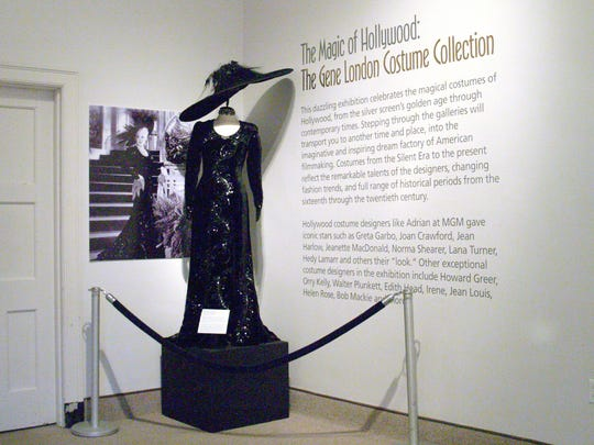 The exhibit includes background on the clothes.