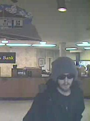Portland Police are looking for this suspect in connection with a robbery at Farmers Bank in Portland Tuesday.