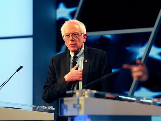 Bernie Sanders speaks during the Miami Democratic debate