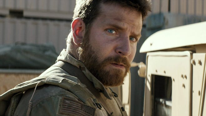 "Bradley Cooper in the Clint Eastwood-directed ""American Sniper,"" arriving on Fox Valley screens this weekend."