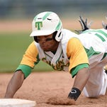 Taylorsville's Austin Moffett dives safely back to first on Thursday, May 21, in the 2015 MHSAA Baseball State Championship at Trustmark Park in Pearl, Miss.