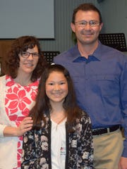 Alyssa Hurtado and parents.