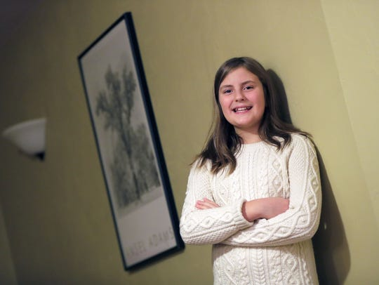 Callie Siamof, 11, is a Girl Scout who attends Houdini