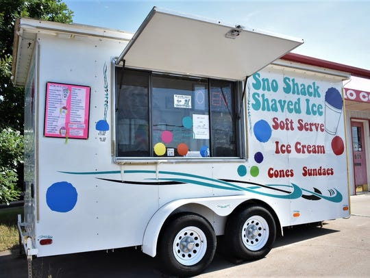 The Sno Shack Shaved Ice cart on June 8, 2018.