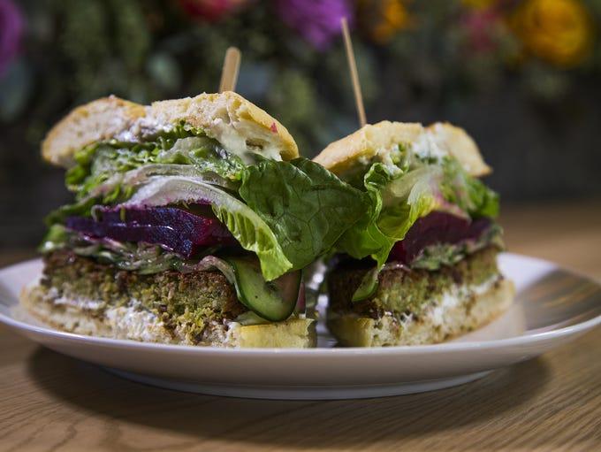 Ocotillo Restaurant and Bar | In the falafel burger