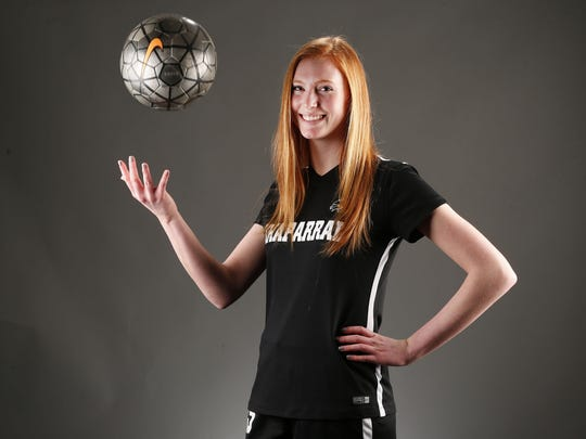 Arizona Sports Awards Athlete of the Month Chloe Christakos, soccer player from Scottsdale Chaparral, photographed in the Arizona Republic studio, Jan. 23, 2017.
