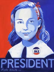 Former Secretary of State Hilary Clinton recently accepted Roberts' portrait that reimagines the presidential candidate in her youth.