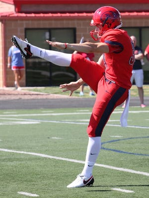 Dixie State senor punter Corey Stens was named the RMAC Special Teams Player of the Week after helping teh Trailblazers to a 28-20 win over Western State Colorado on Saturday.  Stens averaged 47.4 yards per punt and placed four punts inside the 20-yard line.