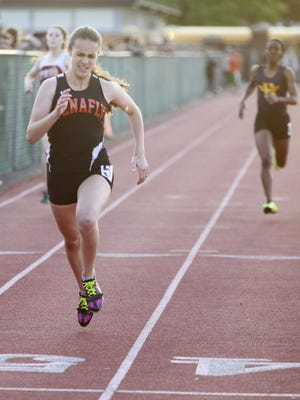 Tenafly's Lexi DelGizzo won the 800-meter title at the state Meet of Champions in June.