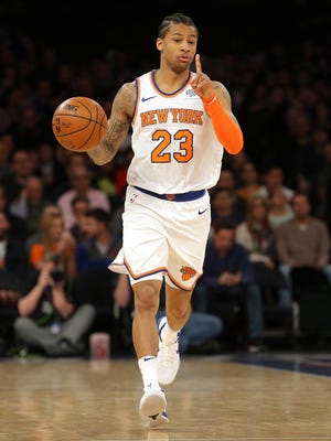 Knicks guard Trey Burke played for the last Michigan team to reach the NCAA national championship game in 2013. He was teammates with Knicks wing Tim Hardaway Jr.