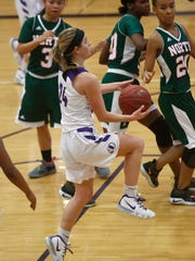 Indianola freshman Mara Bishop puts up a shot. Indianola