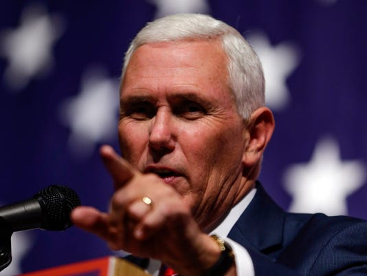 IndyStar stock pence stock mike pence AP CAMPAIGN 2016 PENCE sss