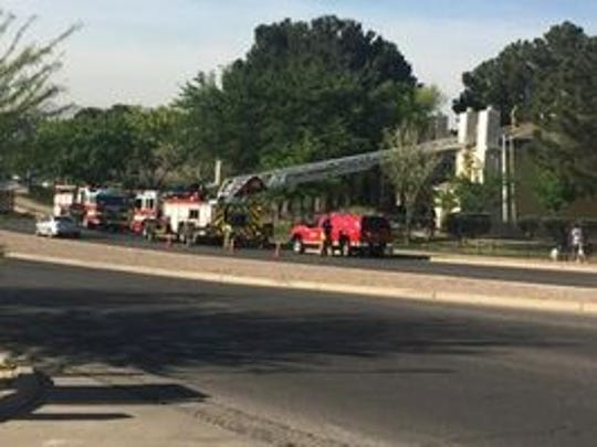 More than 30 firefighters responded to a condition