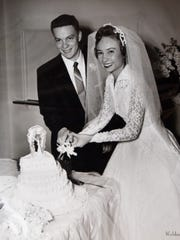 Grady and Delores Hooper's wedding photo.