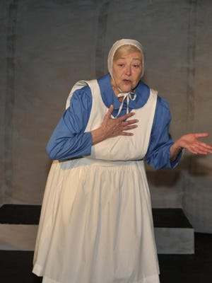 """Nancy Holley star's in the Ice House production of the """"Amish Project."""""""