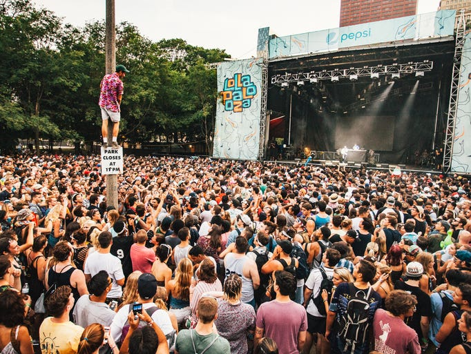 Lollapalooza, located in Chicago, Ill., celebrated