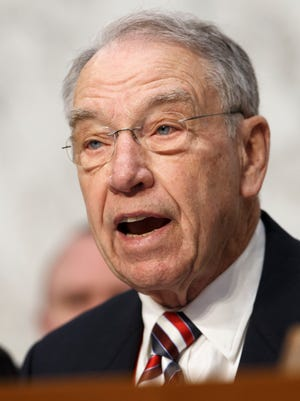 Senate Judiciary Committee Chairman Chuck Grassley, R-Iowa, leads a confirmation hearing on President Barack Obama's nomination of Loretta Lynch to be attorney general, on Capitol Hill in Washington, Wednesday, Jan. 28, 2015. This is the first nomination hearing under the new Republican majority.