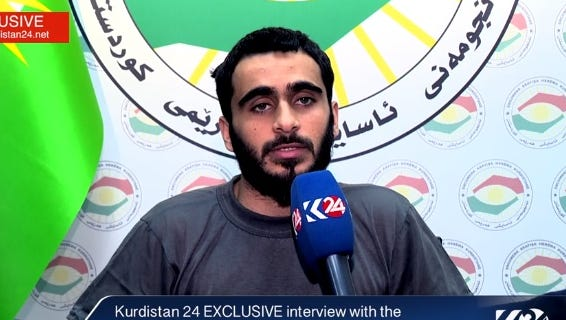 Mohamad Jamal Khweis, of Alexandria, Va., is interviewed on Kurdistan24 TV after fleeing the Islamic State after 3 months in their ranks and turning himself into Kurdish forces in iraq in March, 2016.