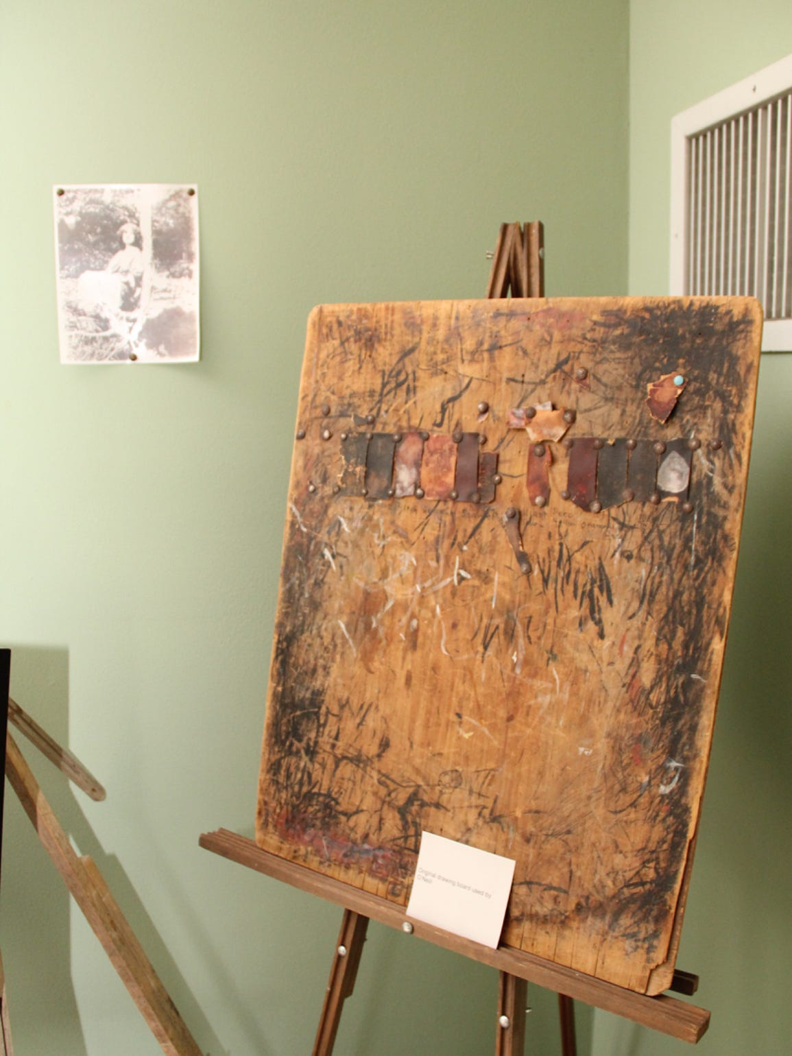 Artist Rose O'Neill's life is curated and celebrated at Bonniebrook, in Walnut Shade. This photo shows one of the artist's easels.