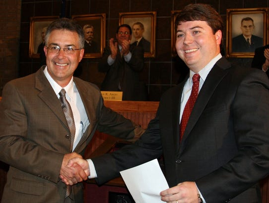 File photo from 2011 shows Mayor Gillespie and then-City