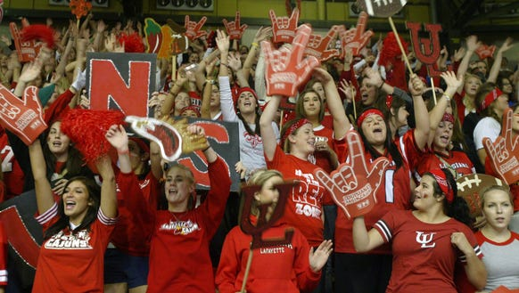 UL students participate in Yell Like Hell, a homecoming