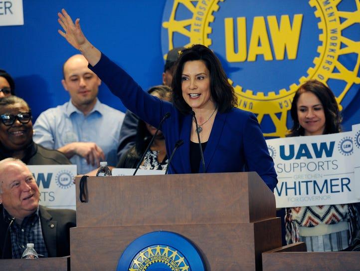 Gretchen Whitmer, Democratic candidate for governor,