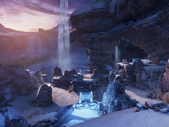 "A screen shot from the video game ""Halo 5: Guardians."""