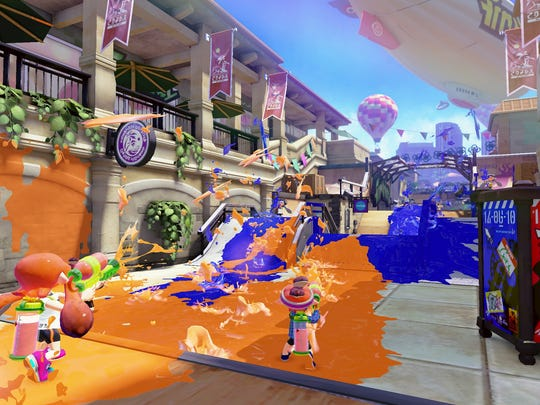 A screenshot from the upcoming Wii U video game 'Splatoon.'