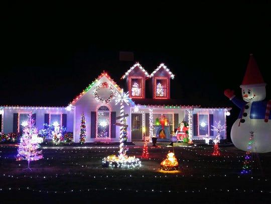 Durham Court lights display.