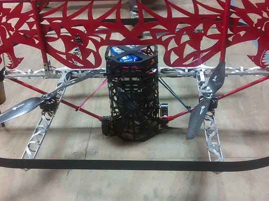 Team Whyachi's newest robot drone, Dragon Warrior.