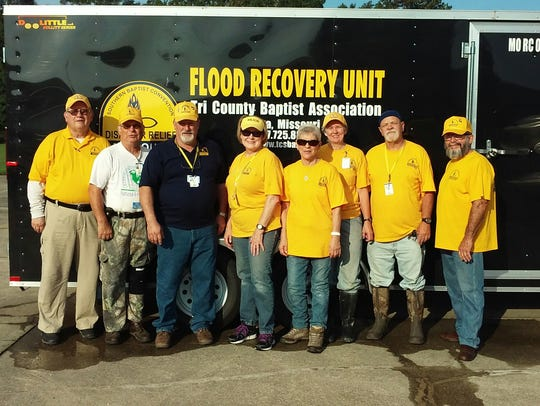 A group of eight disaster relief volunteers from the