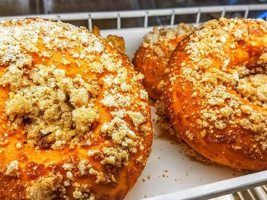 A pumpkin graham cracker bagel from  Gem's House of