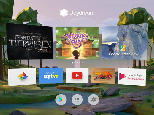 You can find apps in Daydream home.