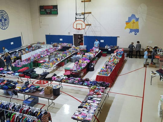 The toy shop at the Plymouth Salvation Army takes up