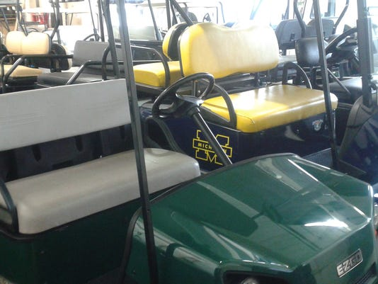 MTO golf carts - parked