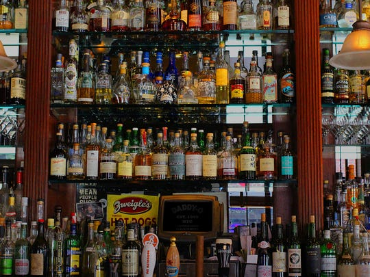 Among the more than 500 bottles at Daddy-O in New York City, you can spy a Zwiegle's sign.