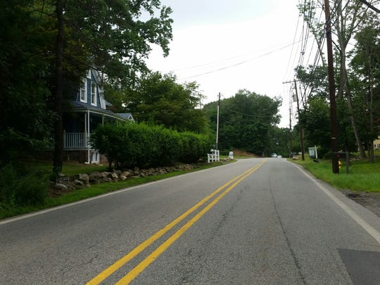 This photo shows the walking conditions on Oldham Road near Passaic County Technical Institute, in Wayne, on Thursday, July 27, 2017.
