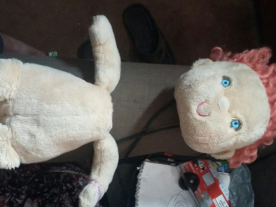 Baby was found ... in two pieces.