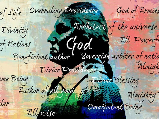 Jess Westman's image of George Washington's different names for God.