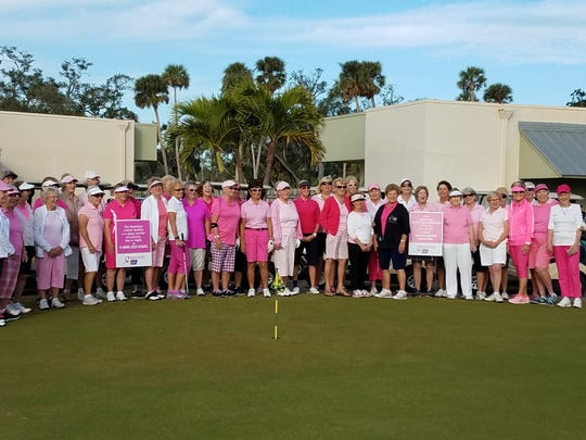 Forty-seven women from The Drifters golf league gather