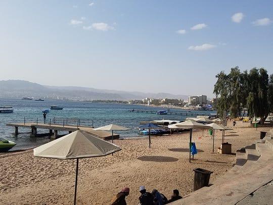The beach at Aqaba, Jordan