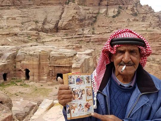 Mofleh Bdoul, a septuagenarian Bedouin and cave dweller