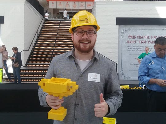 Maxx Davidson, a 2014 Ashland High School graduate, won the Legoland Discovery Center Columbus master builder competition. His prize? A full-time job at the center