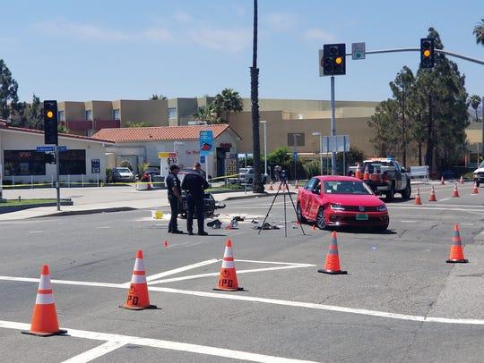 Traffic investigators were at the scene of a fatal