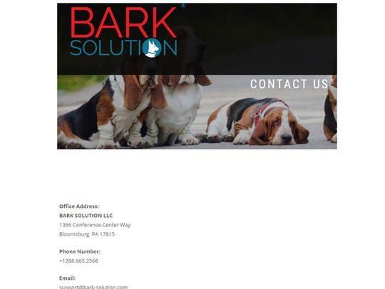 The address given for Bark Solution in Bloomsburg,